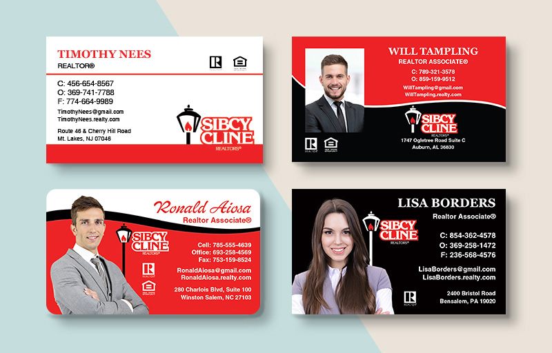 Sibcy Cline Realtors Real Estate Standard Business Cards - Sibcy Cline Realtors Standard & Rounded Corner Business Cards for Realtors | BestPrintBuy.com