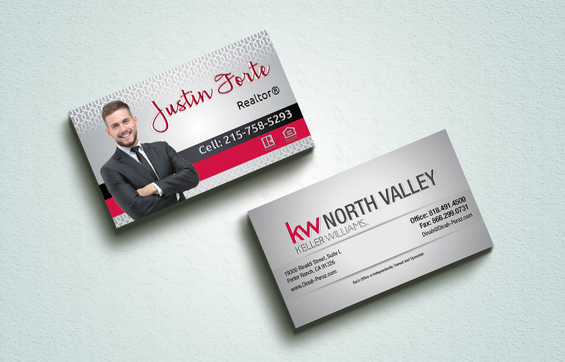 Keller Williams Real Estate Spot UV (Gloss) Raised Business Cards - KW Approved Vendor Luxury Raised Printing & Suede Stock Business Cards for Realtors | BestPrintBuy.com