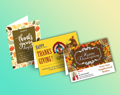 Independent realtor thanksgiving greeting cards 5 5 quot x 4 25 quot or 5 5
