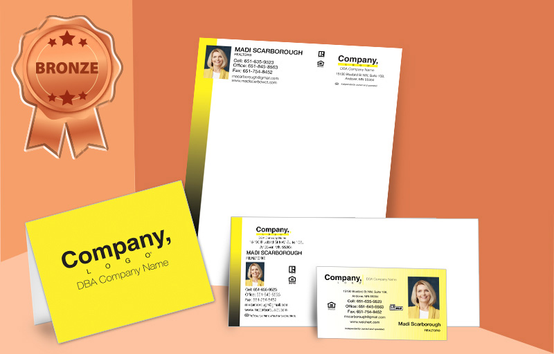 Weichert Real Estate Agent Bronze Package - Weichert  personalized business cards, letterhead, envelopes and note cards | BestPrintBuy.com