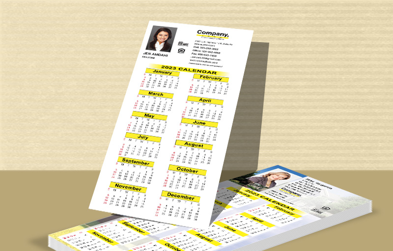 "Weichert Real Estate Business Card Calendar Magnets - Weichert  2019 calendars with photo and contact info, 3.5"" x 8.5"" 