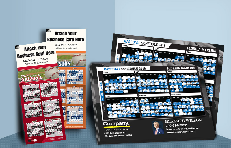 Weichert Real Estate Baseball Schedules - Weichert custom sports schedule magnets | BestPrintBuy.com