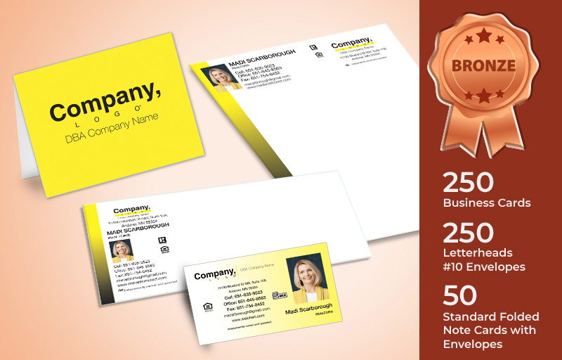 Weichert Real Estate Bronze Agent Package - Weichert personalized business cards, letterhead, envelopes and note cards | BestPrintBuy.com