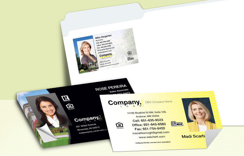 Weichert Real Estate Business Card Labels - Weichert  personalized stickers with contact info | BestPrintBuy.com