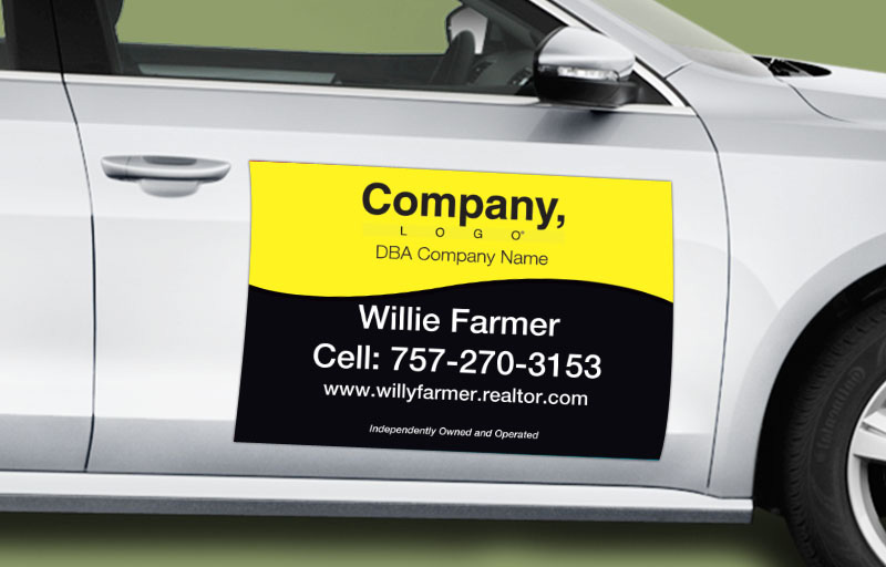 Weichert Real Estate 12 x 18 without Photo Car Magnets - Weichert  custom car magnets for realtors | BestPrintBuy.com