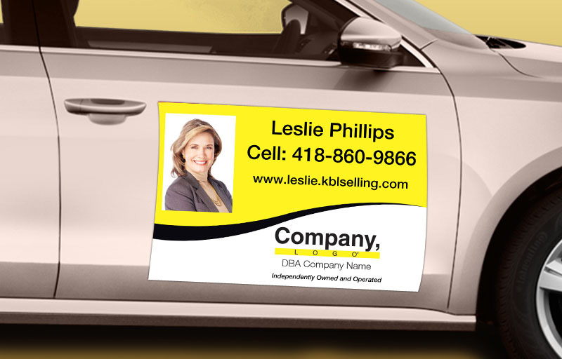 Weichert Real Estate 12 x 18 with Photo Car Magnets - Weichert custom car magnets for realtors | BestPrintBuy.com