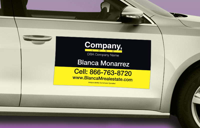 Weichert Real Estate 12 x 24 without Photo Car Magnets - Weichert  custom car magnets for realtors | BestPrintBuy.com