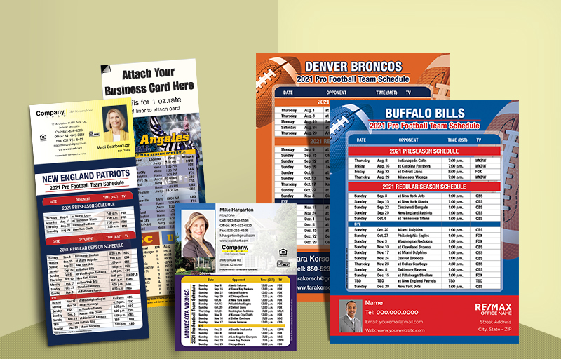 Weichert Real Estate Football Schedules - Weichert custom sports schedule magnets | BestPrintBuy.com