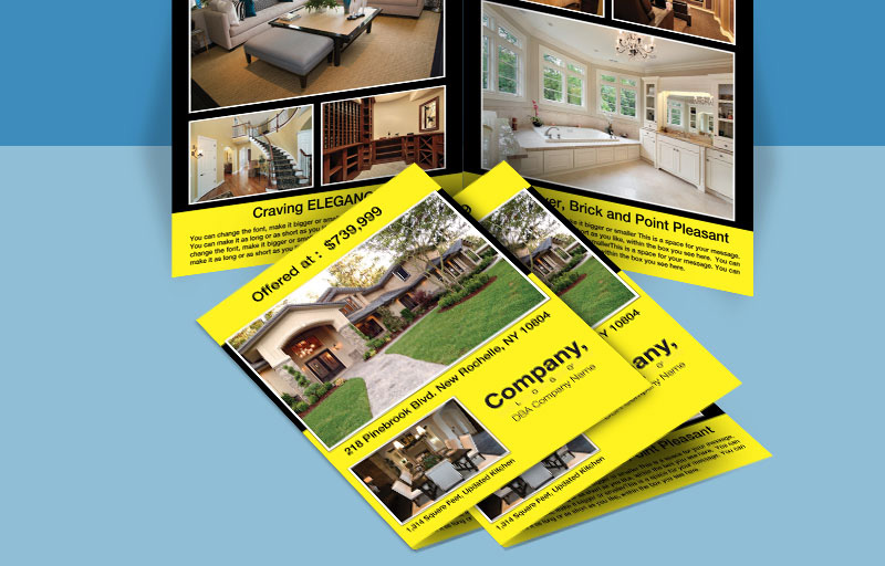 Weichert Real Estate Flyers and Brochures - Weichert four-sided flyer templates for open houses and marketing | BestPrintBuy.com