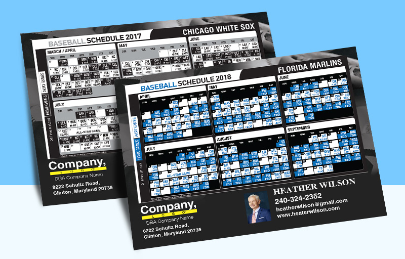 Weichert Real Estate Full Magnet Baseball Schedules - Weichert sports schedules | BestPrintBuy.com