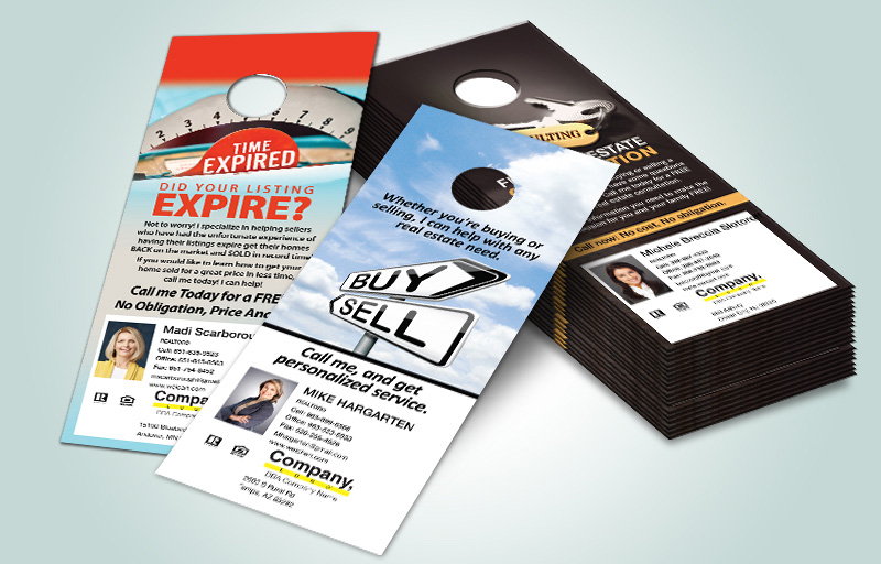 Weichert Real Estate One Sided Door Hangers - Weichert Door Knockers for Realtors | BestPrintBuy.com