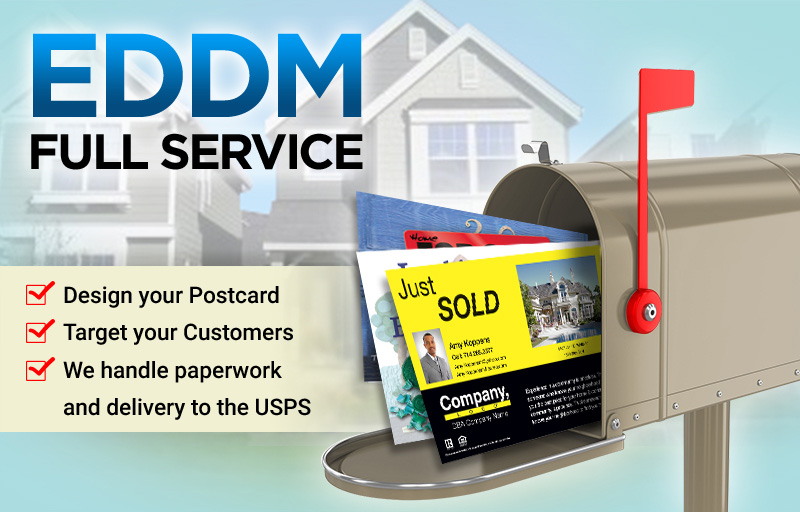 Weichert Real Estate Full Service EDDM Postcards - Weichert  personalized Every Door Direct Mail Postcards printed and delivered to USPS | BestPrintBuy.com
