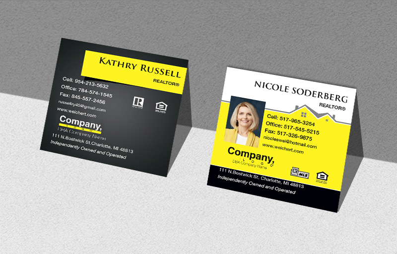 Weichert Real Estate Square Business Cards - Weichert Modern Business Cards for Realtors | BestPrintBuy.com