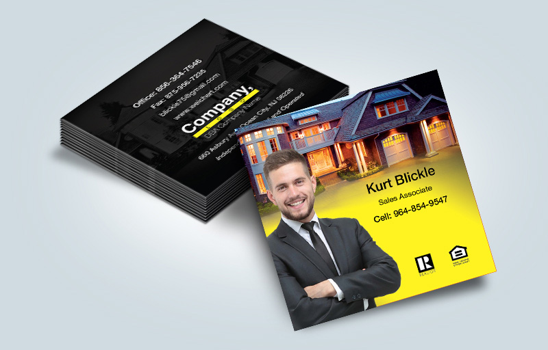 Weichert Real Estate Matching Two-Sided Square Business Cards - Weichert  - Modern, Unique Business Cards for Realtors | BestPrintBuy.com