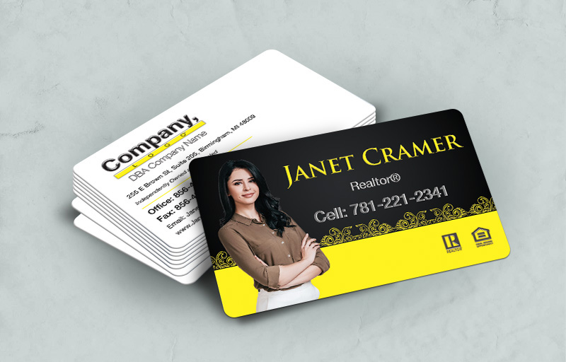 Weichert Real Estate Rounded Corner Spot UV(Gloss) Raised Business Cards - Weichert - Glossy, Embossed Business Cards for Realtors | BestPrintBuy.com