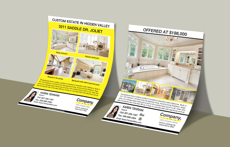 Weichert Real Estate Flyers and Brochures - Weichert two-sided flyer templates for open houses and marketing | BestPrintBuy.com