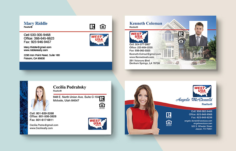 West USA Realty Real Estate Business Card Magnets - West USA Realty  magnets with photo and contact info | BestPrintBuy.com