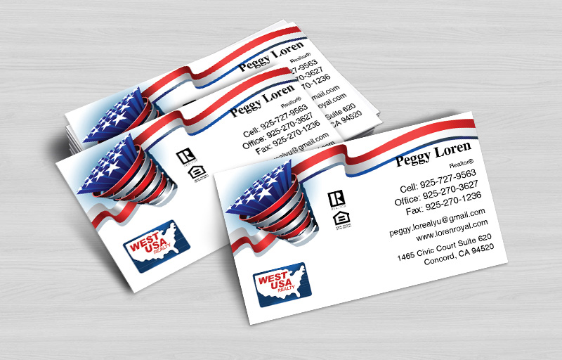 West USA Realty Real Estate Business Cards Without Photo - West USA Realty  marketing materials | BestPrintBuy.com