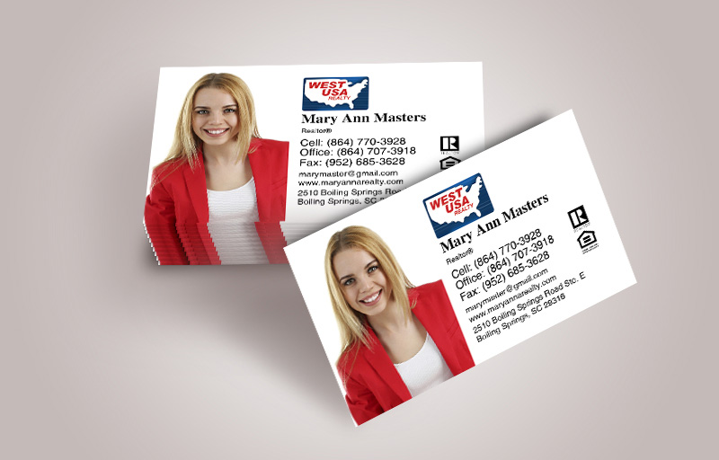 West USA Realty Real Estate Business Cards With Photo - West USA Realty  marketing materials | BestPrintBuy.com