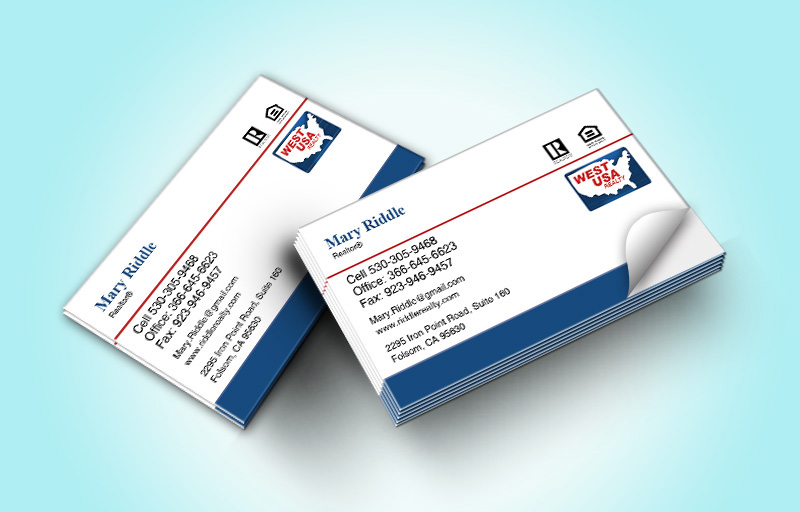 West USA Realty Real Estate Business Card Labels Without Photo - West USA Realty marketing materials | BestPrintBuy.com