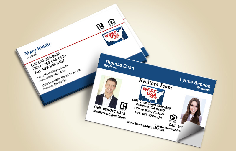 West USA Realty Real Estate Team Business Card Labels - West USA Realty marketing materials | BestPrintBuy.com