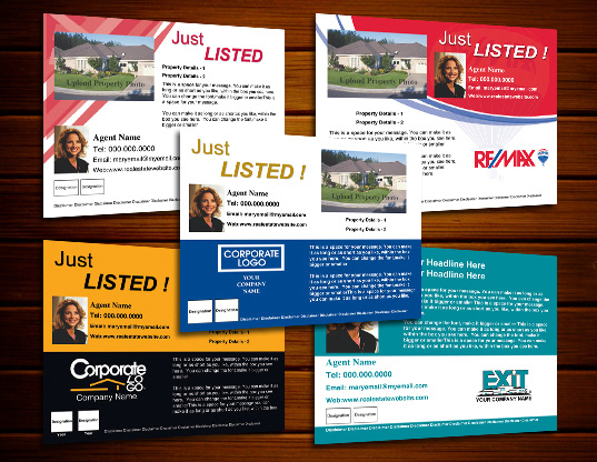 just listed postcard template just listed real estate postcards