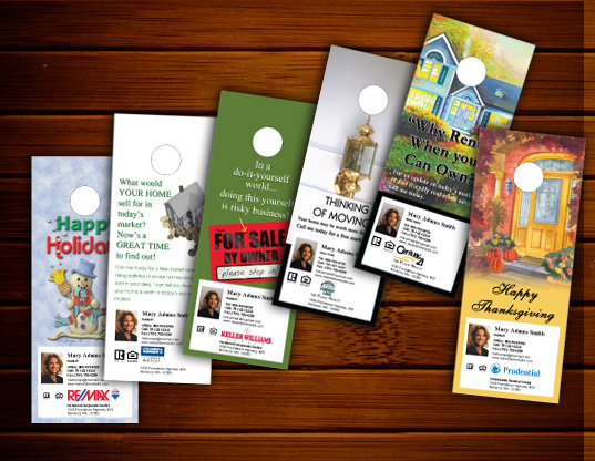 Real Estate Door Hangers & Real Estate Door Hangers - Online Designs Ideas Templates Custom ...