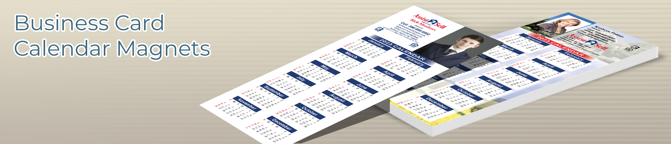 Assist2Sell Real Estate Business Card Calendar Magnets - Assist2Sell Real Estate  2019 calendars with photo and contact info | BestPrintBuy.com
