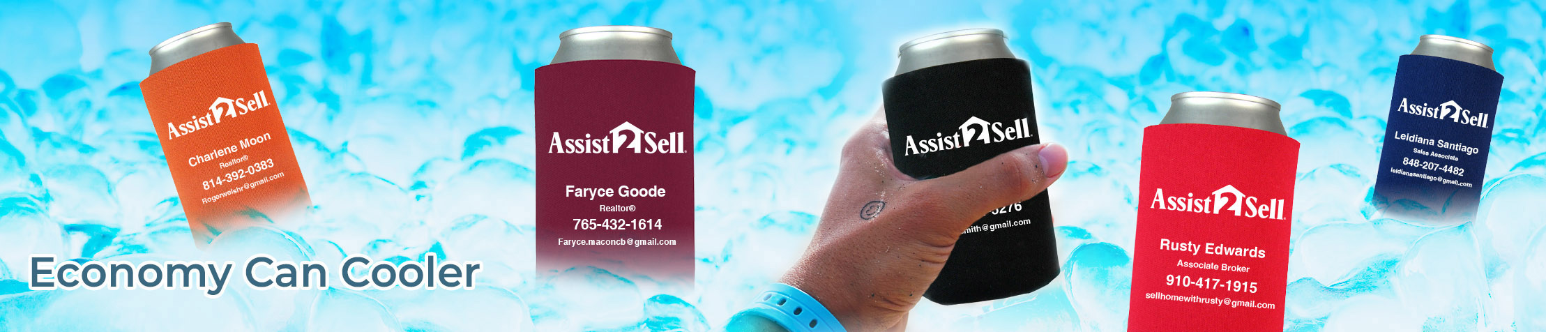 Assit2Sell Real Estate Economy Can Cooler - Assit2Sell Real Estate  personalized realtor promotional products | BestPrintBuy.com