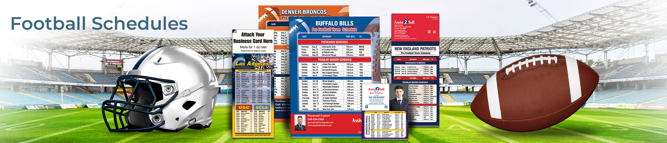 Assist2Sell Real Estate Football Schedules - Assist2Sell Real Estate personalized football schedules | BestPrintBuy.com
