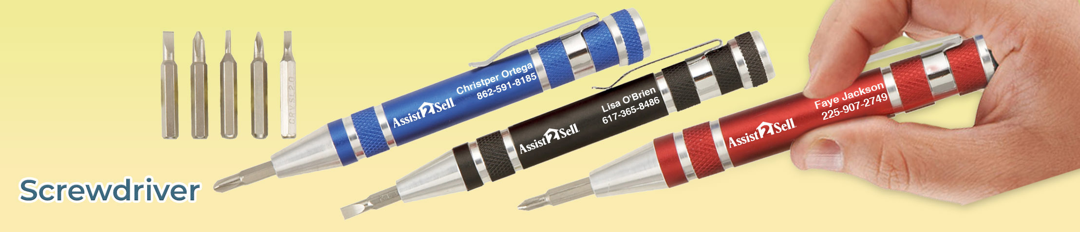 Assit2Sell Real Estate Screwdriver - Assit2Sell Real Estate personalized realtor promotional products | BestPrintBuy.com