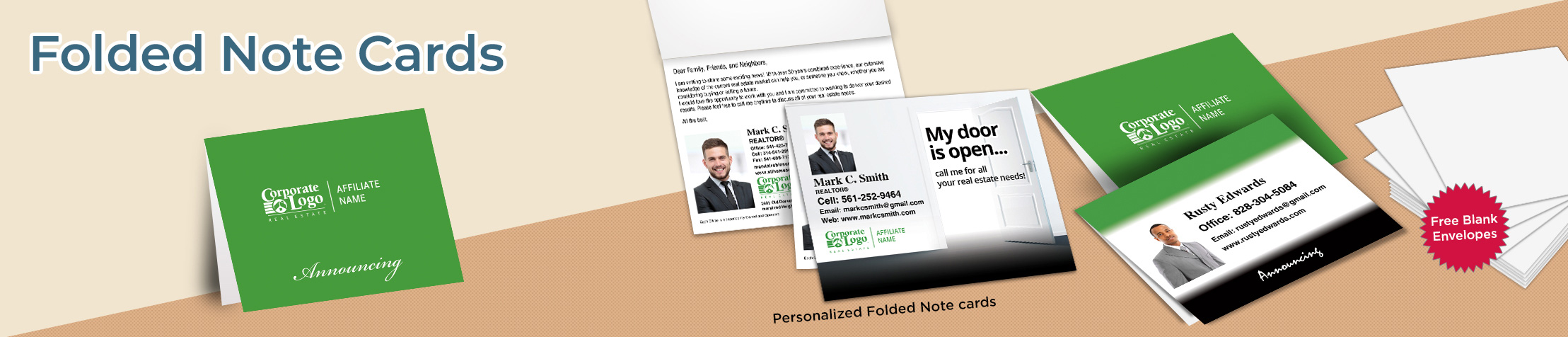 Better Homes and Gardens Real Estate  Folded Note Cards - BHGRE stationery | BestPrintBuy.com