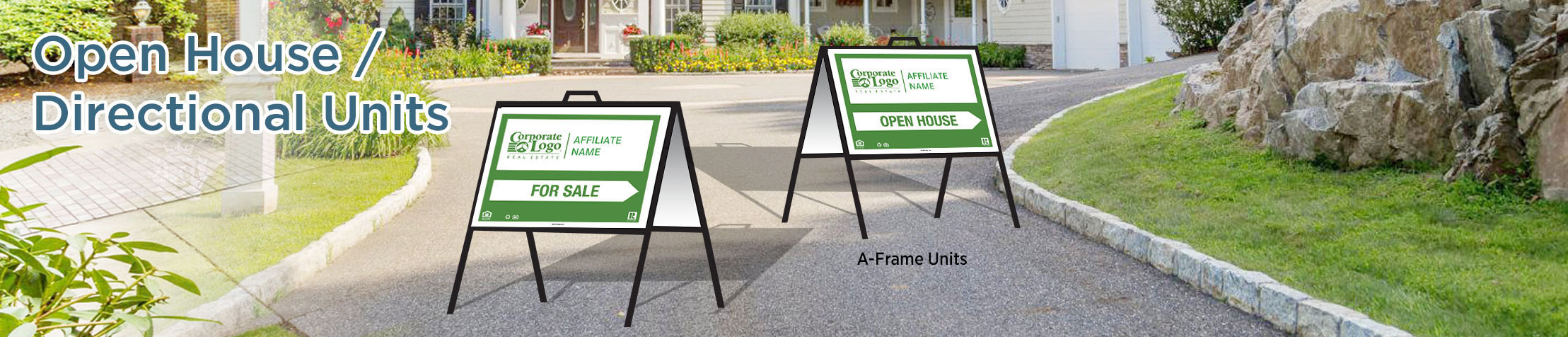 Better Homes and Gardens Real Estate Open House/Directional Units - Better Homes and Gardens directional real estate signs | BestPrintBuy.com