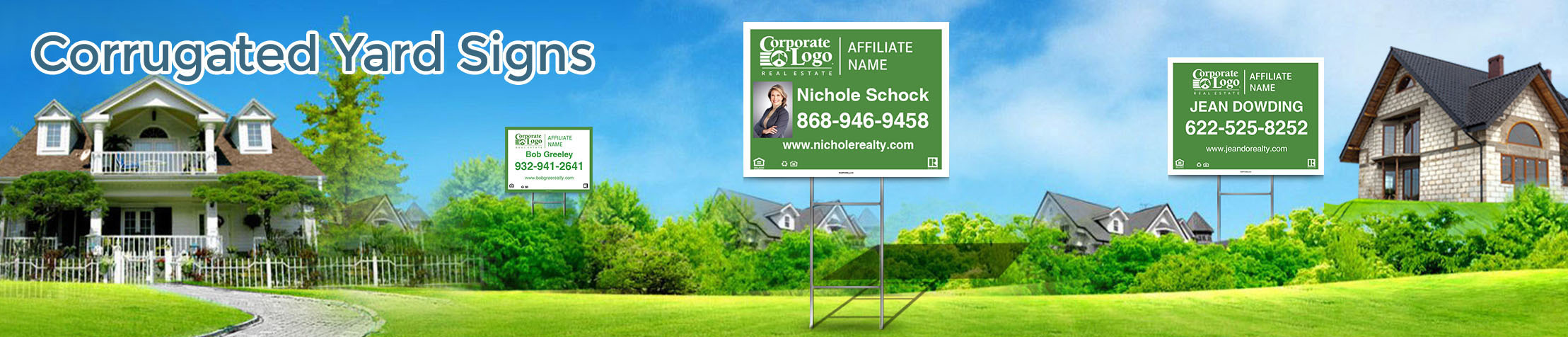 Better Homes and Gardens Real Estate Corrugated Yard Signs - Better Homes and Gardens real estate signs | BestPrintBuy.com