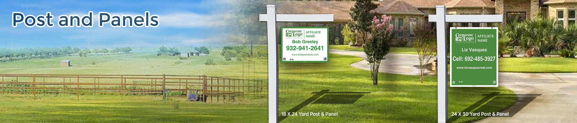 Better Homes and GardensReal Estate Post and Panel - Better Homes and Gardens real estate signs | BestPrintBuy.com