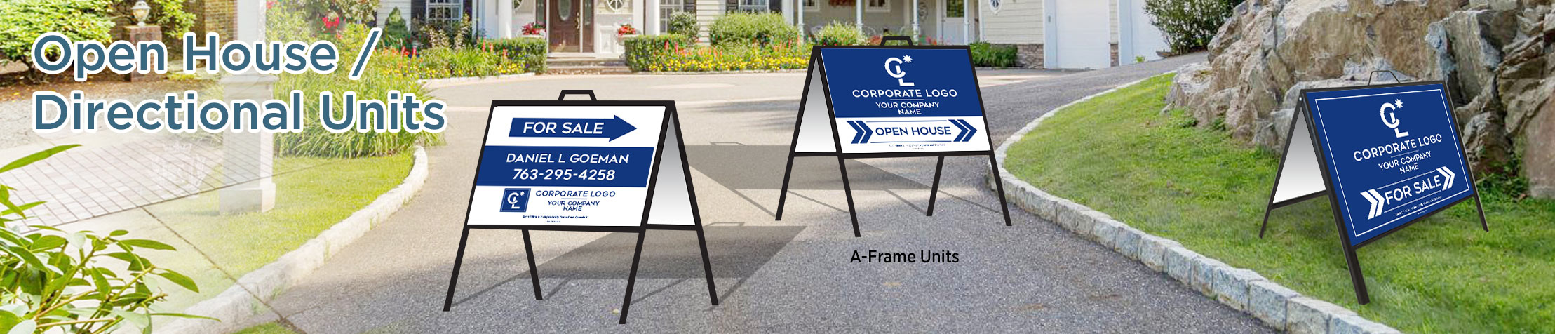 Coldwell Banker Real Estate Arrow Shaped Signs - Coldwell Banker directional real estate signs | BestPrintBuy.com