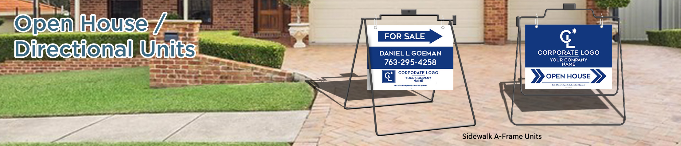 Coldwell Banker Real Estate House Shaped Signs - Coldwell Banker  real estate signs | BestPrintBuy.com