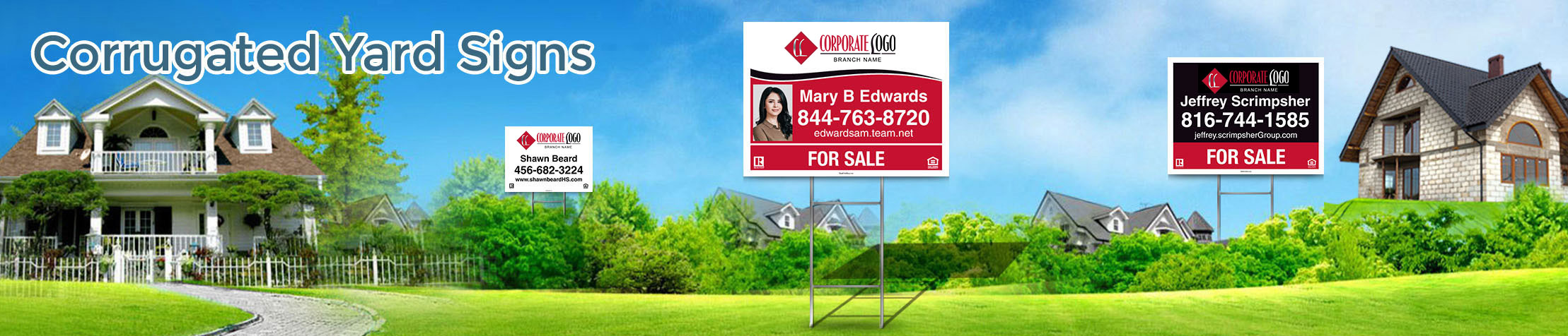 HomeSmart Real Estate Corrugated Yard Signs - HomeSmart Real Estate signs | BestPrintBuy.com