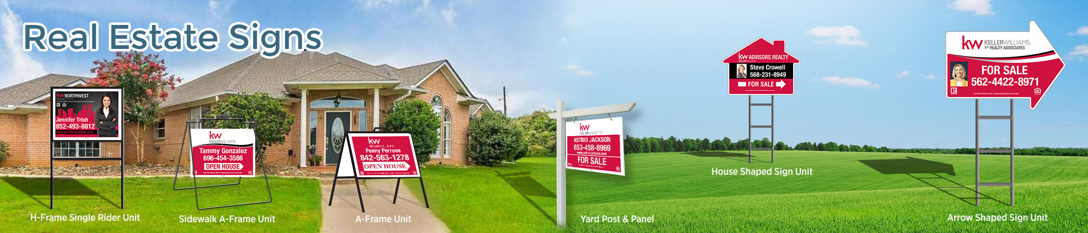 Keller Williams Real Estate Signs