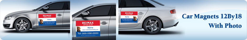 RE/MAX Real Estate Car Magnets 12 X 18 With Photo