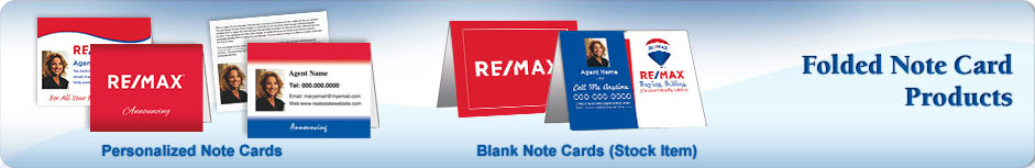 RE/MAX Real Estate Folded Cards