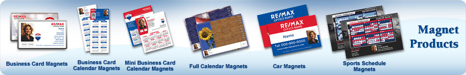 RE/MAX Real Estate Magnet Products