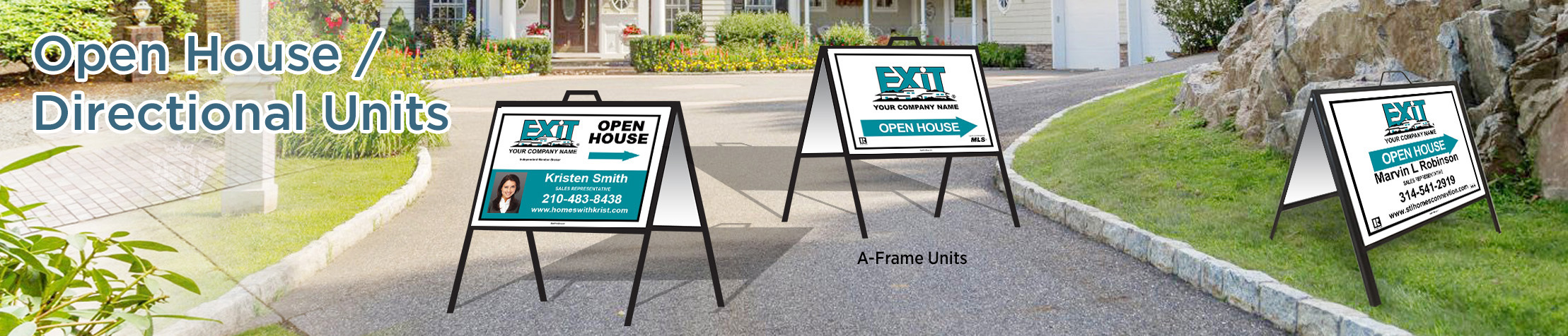 Exit Realty Open House/Directional Units - Exit Realty approved vendor directional real estate signs | BestPrintBuy.com