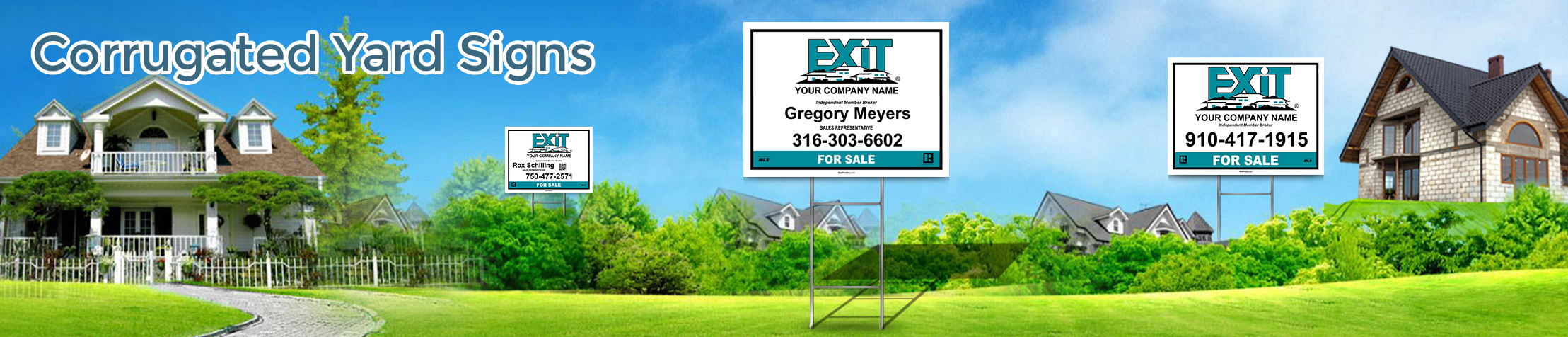 Exit Realty Corrugated Yard Signs - Exit Realty approved vendor real estate signs | BestPrintBuy.com