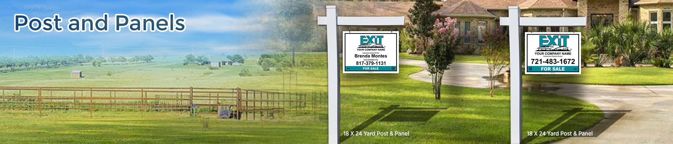 Exit Realty Post and Panel - Exit Realty approved vendor real estate signs | BestPrintBuy.com
