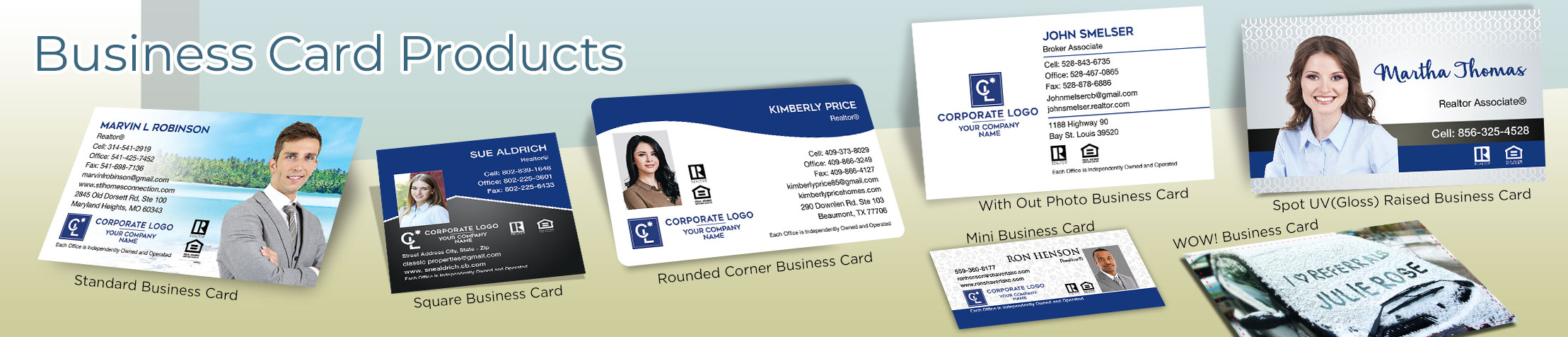 Coldwell Banker Real Estate Business Card Products - Coldwell Banker  - Unique, Custom Business Cards Printed on Quality Stock with Creative Designs for Realtors | BestPrintBuy.com