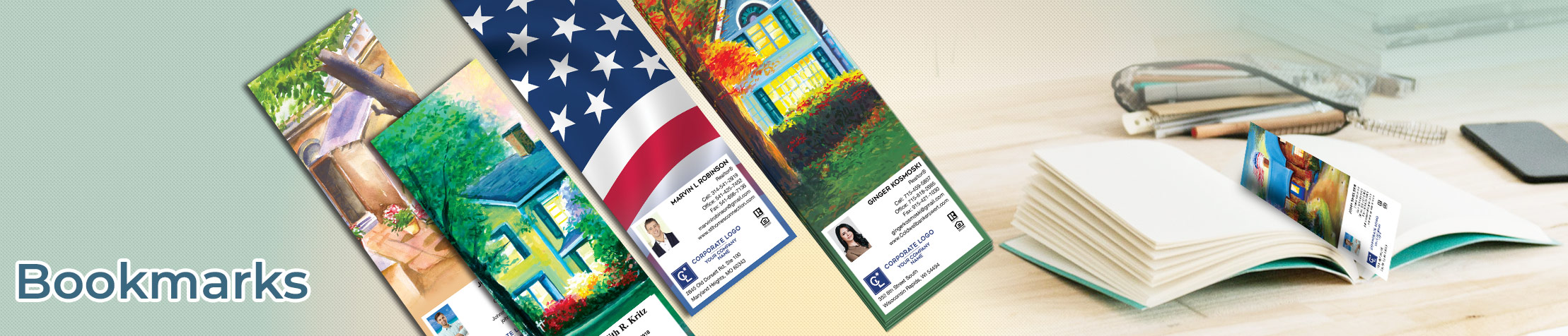 Coldwell Banker Real Estate Bookmarks - Coldwell Banker  custom realtor bookmarks | BestPrintBuy.com