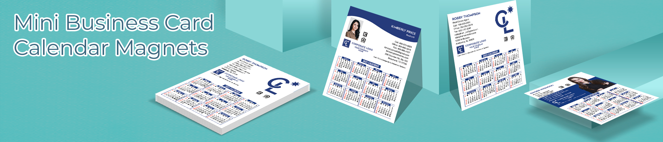 "Coldwell Banker Real Estate Mini Business Card Calendar Magnets - Coldwell Banker 2019 calendars with photo and contact info, 3.5"" by 4.25"" 