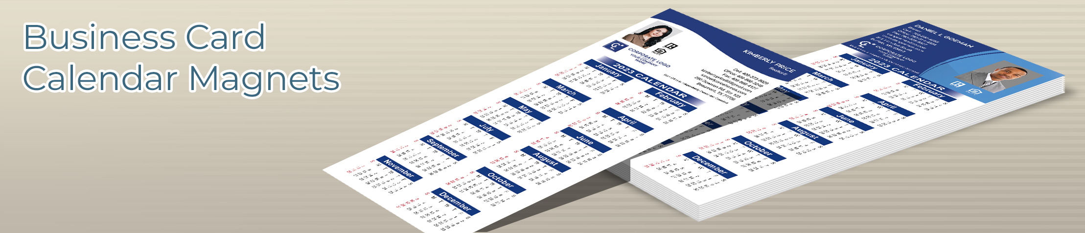Coldwell Banker Real Estate Business Card Calendar Magnets - Coldwell Banker  2019 calendars with photo and contact info | BestPrintBuy.com