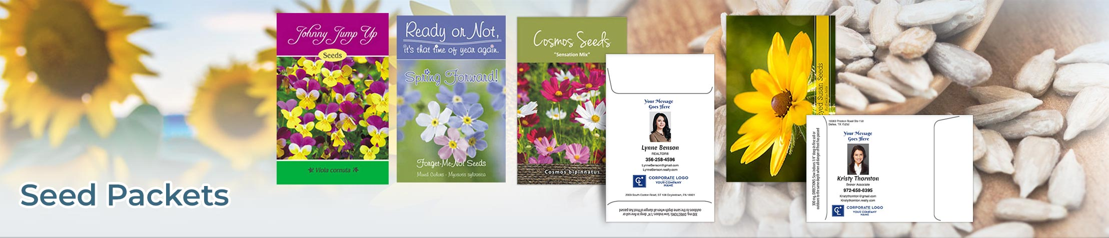 Coldwell Banker Real Estate Seed Packets - Coldwell Banker  personalized realtor promotional products | BestPrintBuy.com